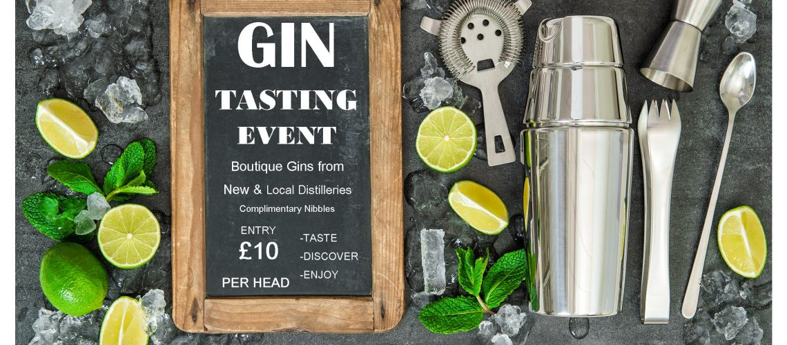 Gin Tasting Event Alresford 19 Flyer front A5